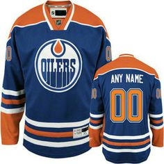 106173cfd Edmonton Oilers Official Home Reebok Premier Replica Adult NHL Hockey Jersey  CoolHockey