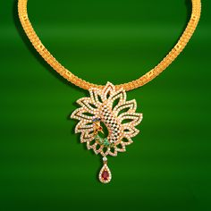 20 Grams Gold Necklace Designs, Gold Necklace Designs in 20 Grams, GRT Jewellers… Gold Chain Design, Gold Jewellery Design, Fancy Jewellery, Diamond Jewellery, Fashion Jewellery, Gold Fashion, Fashion Necklace, Gold Earrings Designs, Necklace Designs