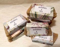 HEŘMÁNKOVÉ MÝDLO S MEDEM – Prostě mejdlo Barware, Soap, Place Card Holders, Bar Accessories, Soaps, Glas