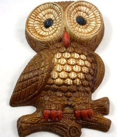 Vintage Owl Decorative Owl for Wall Decor by LuckySevenVintage, $14.00