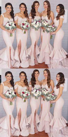 Mermaid Bridesmaid Dresses,Off-the-Shoulder Dresses,Bridesmaid Dresses 2017