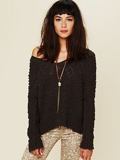 Shaggy Knit Pullover - Free People $98