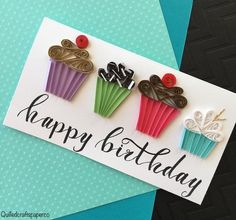 Quilling Birthday Cards, Paper Quilling Cards, Paper Quilling Patterns, Quilled Paper Art, Handmade Birthday Cards, Paper Cards, Greeting Cards Handmade, Neli Quilling, Quilling Work