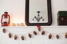 DIY Gold Leaf Pinecone Garland - 10 Adorable Autumnal DIY Projects For Your Home!