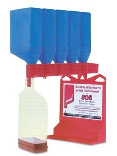 "WirthCo 32947 Funnel King B.O.B. ""Bottom of the Bottle"" Oil Bottle Draining System WirthCo http://www.amazon.com/dp/B001P2JC9W/ref=cm_sw_r_pi_dp_6x89ub13WAPCZ"