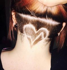 new trend hairstyle 2016 heart shape under ponytail - Google Search