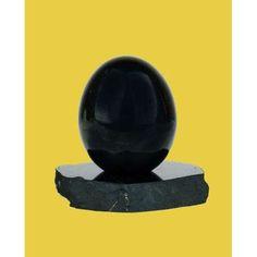 Uovo in shungite da 6 o 9 cm con supporto 38€ - Idealandia