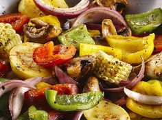 Grilled Veggies - using wood chips.  Add this simple yet delicious side to your next grilled meal for the perfect smoky addition.