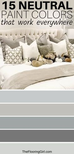 Check out these 15 foolproof neutral paint colors that work in virtually every room of your home. Neutral Paint Colors, Best Paint Colors, Room Paint Colors, Interior Paint Colors, Paint Colors For Home, House Colors, Good Bedroom Colors, Wall Colors, Diy Hacks
