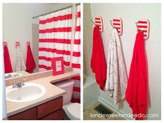Landee See, Landee Do: DIY Striped Towel Hooks