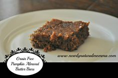Almond Butter Pumpkin Bars - Nearly Natural Momma