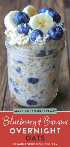 Blueberry Overnight Oats - Organize Yourself Skinny