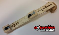 """The newest jig we are orrfering. The 10"""" pocket jig. Made of furniture grade lumber. Holds up to a 1/2"""" buckle. Great for cording on the go. Opens to 10"""". Laser engraved rulers in both SAE and Metric. Proudly made in the USA!"""