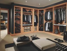 The best of luxury closet design in a selection curated by Boca do Lobo to inspire interior designers looking to finish their projects. Discover unique walk-in closet setups by the best furniture makers out there. Dressing Room Decor, Dressing Room Closet, Dressing Room Design, Closet Bedroom, Walk In Wardrobe, Wardrobe Design, Walk In Closet, Closet Space, Huge Closet