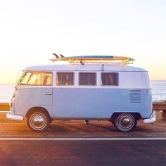 classic VW bus #surf #morning