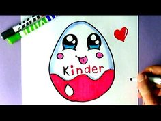 EINE KAWAII KINDER SCHOKOLADE SELBER MALEN - ÜBERRASCHUNG EI - YouTube
