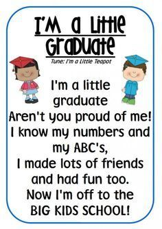 Is your kid going to be a preschool graduate and soon be a kindergarten student? Celebrate this wonderful occasion with these inspirational preschool graduation quotes. Preschool Graduation Songs, Preschool Poems, Preschool Classroom, In Kindergarten, Preschool Activities, Pre K Graduation Songs, Pre School Graduation Ideas, Preschool Teacher Quotes, School Ideas
