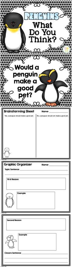Do you study penguins? This is a great writing assignment to do at the end of the unit. Do you think a penguin will make a good pet? Your kids will LOVE talking about this!