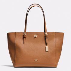 COACH Turnlock Tote in Crossgrain Leather Handbags - All Handbags, Wallets & Small Accessories - Bloomingdale's Handbags On Sale, Coach Handbags, Tote Handbags, Purses And Handbags, Leather Handbags, Coach Purses, Tote Bags, Fashion Bags, Women's Fashion