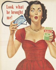 Look at those lips ~ and that dress !! 1950s 'Sweetacres' Fantales and Minties advertisement