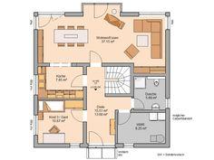 Kern-Haus Stadtvilla Centro W Grundriss Erdgeschoss