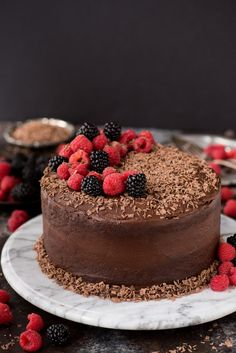 Decadent and moist 2 layer chocolate velvet cake with chocolate milk in the batter! Top with fresh berries, chocolate shavings, chocolate chips. Tea Cakes, Cupcake Cakes, Cupcakes, Best Simple Chocolate Cake, Thin Mints, Chocolate Velvet Cake, Chocolate Recipes, Chocolate Chips, Chocolate Ganache
