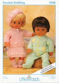 DC013  Baby Dolls Knitting Pattern Boy Dolls Outfit Girl Dolls Outfit 12, 16, 20inch doll DK Dolls Clothes Knitting Pattern PDF instant download PLEASE NOTE PATTERNS ARE IN ENGLISH ONLY Please refer to the pictures above for information from pattern on sizes, materials used, needle size etc. Click on the white arrow half way up the picture on the right side. Where a discontinued yarn is used, I check the needle size for a modern equivalent and include in the description. This is meant as a…