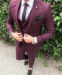 Suits for men, wedding men, suit fashion, latest mens fashion, men' Latest Mens Fashion, Mens Fashion Suits, Men's Suits, Cool Suits, Costume Bordeaux, Three Piece Suit For Man, 3 Piece Suits, Man Dress Design, Best Suits For Men