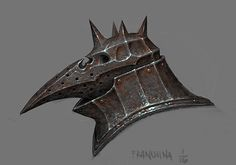 plague knight helmet, personal IP.      if you are so inclined, follow me  at https://www.facebook.com/mike.franchina.3