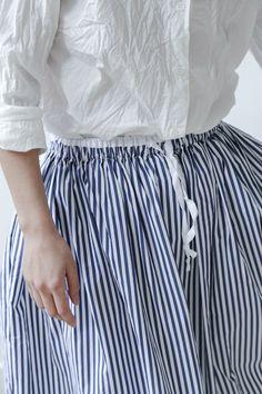 gallego desportes striped skirt