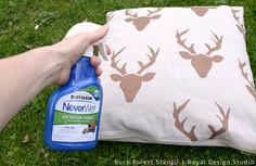 Stencil How to: Make Outdoor Pillows From Drop Cloth