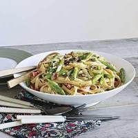 Asparagus, Ham and Egg Pasta | http://www.rachaelraymag.com/Recipes/rachael-ray-magazine-recipe-search/rachael-ray-30-minute-meals/asparagus--ham-and-egg-pasta
