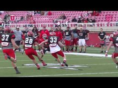 Clips and interviews from the first football scrimmage - 4/5/13
