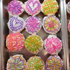 Tie die cupcakes :)