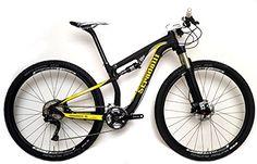 Stradalli 29er Black / Yellow Full Carbon Fiber Dual Suspension Cross Country XC Mountain Bike. Shimano XT M8000 11 Speed. X Fusion Suspension. DT Swiss Limited Edition Wheel Set.