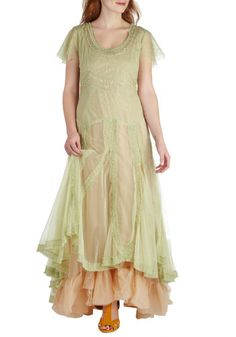 Wow. This is really cool! But too much for someone my age?  Fairy Important Date Dress in Sage, #ModCloth