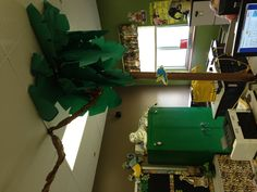 Jungle classroom - I did this in my 3rd grade classroom.  It was wonderful!