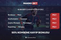 Günün Kombine Kuponu'nda %50 Kayıp Bonus'u Makrobet'te. Detaylar için sitemizdeki bonuslar bölümünü ziyaret ediniz. http://makrobet2.com