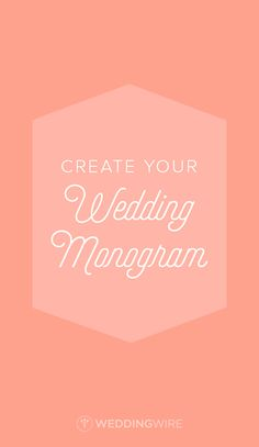 No graphic design skills needed to have your own unique wedding monogram. Sign up to download yours!