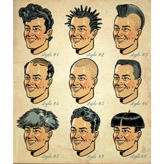 Popular men's hair-styles