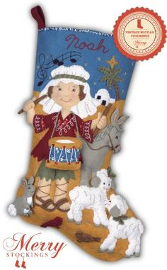 Drummer Boy Vintage Bucilla Felt Stocking Kit: Drummer Boy felt stocking kit is an old kit that MerryStockings exclusively re manufactured on a limited basis. Very cute and popular kit! Felt Stocking Kit, Christmas Stocking Pattern, Christmas Stocking Holders, Merry Stockings, Diy Stockings, Felt Ornaments, Christmas Ornaments, Christmas Tables, Cross Stitch Christmas Stockings
