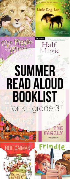 An elementary summer reading booklist! Great books for kindergarten through grade 3 with a mix of classics and contemporary, serious and funny.