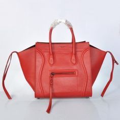 aef1f6ba72 Celine Phantom Luggage Bag Leather Red Celine Handbags, Celine Bag, Celine  Luggage, Designer