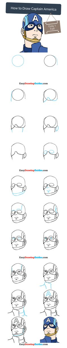 Learn How to Draw Captain America: Easy Step-by-Step Drawing Tutorial for Kids and Beginners. #captainamerica #marvel #comics #drawing #tutorial. See the full tutorial at https://easydrawingguides.com/how-to-draw-captain-america/