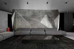 3D betónová obývačková stena Couch, Bed, Furniture, Home Decor, Settee, Decoration Home, Sofa, Stream Bed, Room Decor