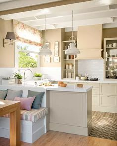 Browse photos of Small kitchen designs. Discover inspiration for your Small kitchen remodel or upgrade with ideas for organization, layout and decor. Kitchen Dinning, New Kitchen, Kitchen Decor, Kitchen Ideas, Kitchen Walls, Dining Table, Kitchen Soffit, Decorating Kitchen, Kitchen Nook