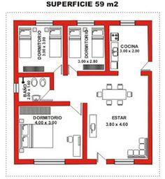 Little House Plans, Small Modern House Plans, Beautiful House Plans, House Floor Design, Bungalow House Design, Small House Design, Bungalow House Plans, Bedroom House Plans, House Floor Plans