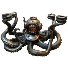 Nemesis Now Oceans Secrets Steampunk Octopus Candleabra - £83.99 :From ANGEL CLOTHING
