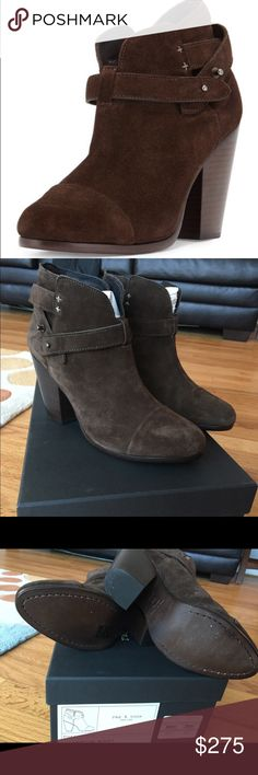 Rag and bone Harrow booties is espresso Suede 39.5 New in box and with dust bag. Size 39.5 but as most of Rag and bone shoes run small rag & bone Shoes Ankle Boots & Booties