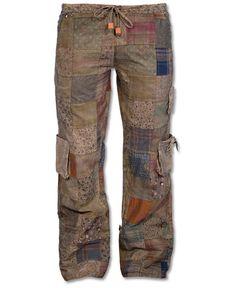 Patchwork Cargo Pants: Soul-Flower Online Store